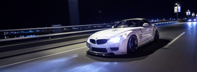 night shot rolling bmw z4 blog-tab