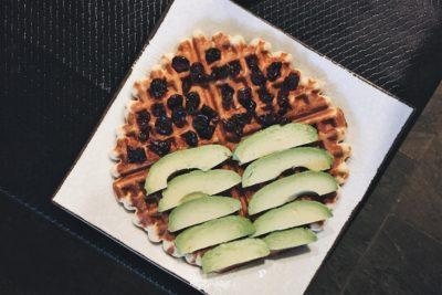 avocado protein waffle