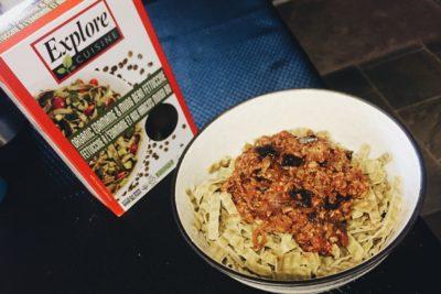 Vegan spaghetti noodle