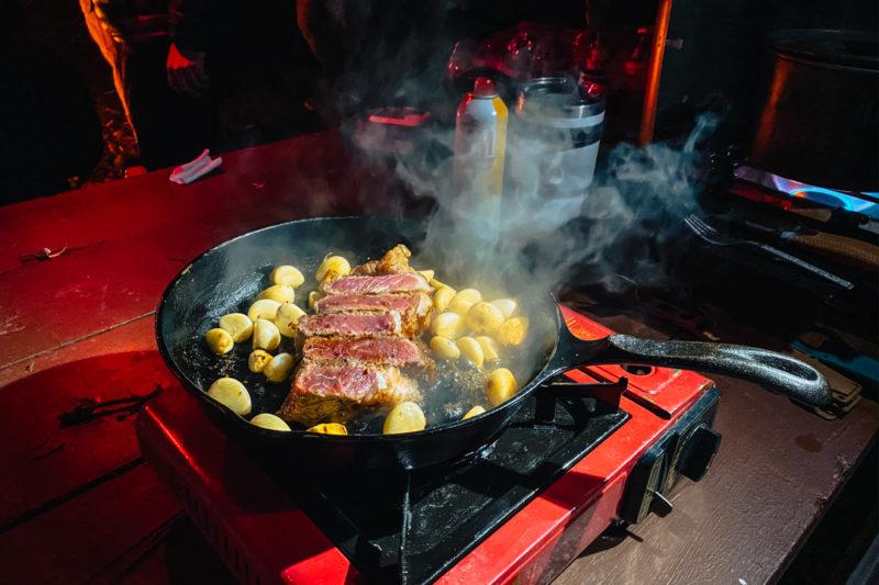 Camp cook steak
